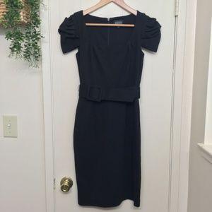 Adrianna Papell little black dress with belt